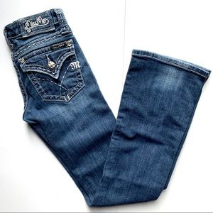 Miss Me Jeans Size 26 Bootcut Crystals